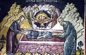 Икона Первое обретение главы Иоанна Крестителя